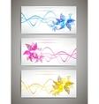 Flower cards set vector image