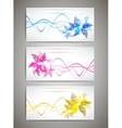 Flower cards set vector image vector image