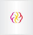flower logo floral symbol vector image vector image