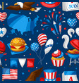 fourth july independence day seamless pattern vector image vector image