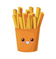 french fries food cute kawaii cartoon vector image vector image
