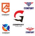 g letter based logo set vector image vector image