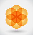 Geometric blossom vector image vector image