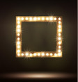gold frame with bulb lamp for your design vector image