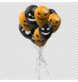halloween background cheerful pumpkins vector image vector image