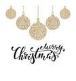 hanging christmas ball with a floral swirl hand vector image vector image