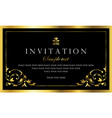 invitation card - black and gold luxury design vector image vector image