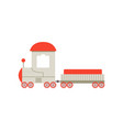 kids cartoon toy cargo train railroad toy with vector image vector image