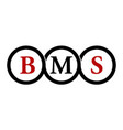 letter bms modern icon photography vector image vector image