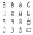 line battery icon set vector image vector image