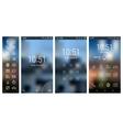 Line mobile UI app smartphone mockups with vector image vector image