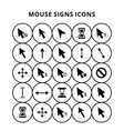 mouse sign icons vector image