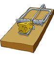 mousetrap vector image vector image
