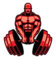 muscle man bodybuilder vector image vector image