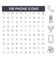 phone line icons signs set outline vector image vector image