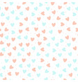 repeated hand drawn hearts on white background vector image