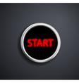 Round button start vector image vector image