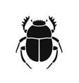 scarab beetle vector image vector image