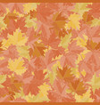 seamless pattern background maple leafs vector image vector image
