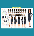 set businesswoman character design asian vector image
