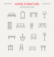 set of furniture and home decor icons vector image vector image