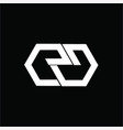 simple eg gg ge ee esg initials geometric comp vector image vector image