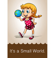 Small world vector image vector image