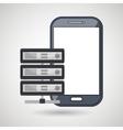 smartphone data base icon vector image