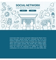 Social network concept vector image vector image