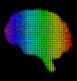 spectral colored dot brain icon vector image