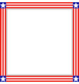 square frame with american symbols vector image vector image