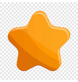 star biscuit icon cartoon style vector image
