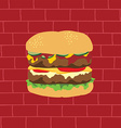tasty burger theme vector image vector image