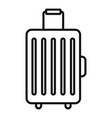 travel baggage icon outline style vector image vector image