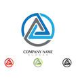 triangle logo template icon design vector image