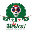 Viva mexico - skull festival poster