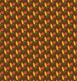 wheat and berry pattern vector image vector image