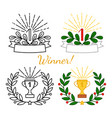 winner awards set vector image vector image