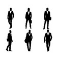 young men silhouettes vector image