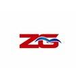 ZG letter logo vector image vector image