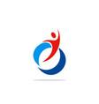 happy sport people winner logo vector image