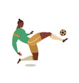 football soccer player of isolated character of vector image