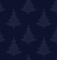 Seamless pattern Christmas tree 00 vector image