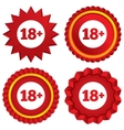 18 years old sign Adults content icon vector image vector image