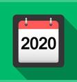 2020 calendar flat icon 2020 calendar cover sheet vector image vector image