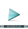 3d icon play vector image vector image
