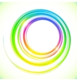 Abstract colorful circles frame vector image vector image