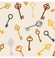 antique skeleton keys vector image vector image
