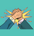 business arm wrestling fight confrontation vector image