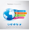 business globe infographics template with icons vector image